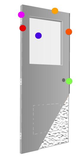DCI Hollow Metal on Demand   Stainless Steel Doors   Stock Polystyrene Core Doors